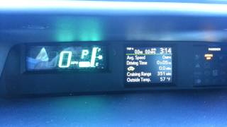 Toyota Prius C How to Change Speedometer mph to km