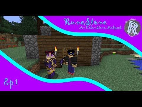 "RuneStone Modded Minecraft ep1 ""A Magical Land"""