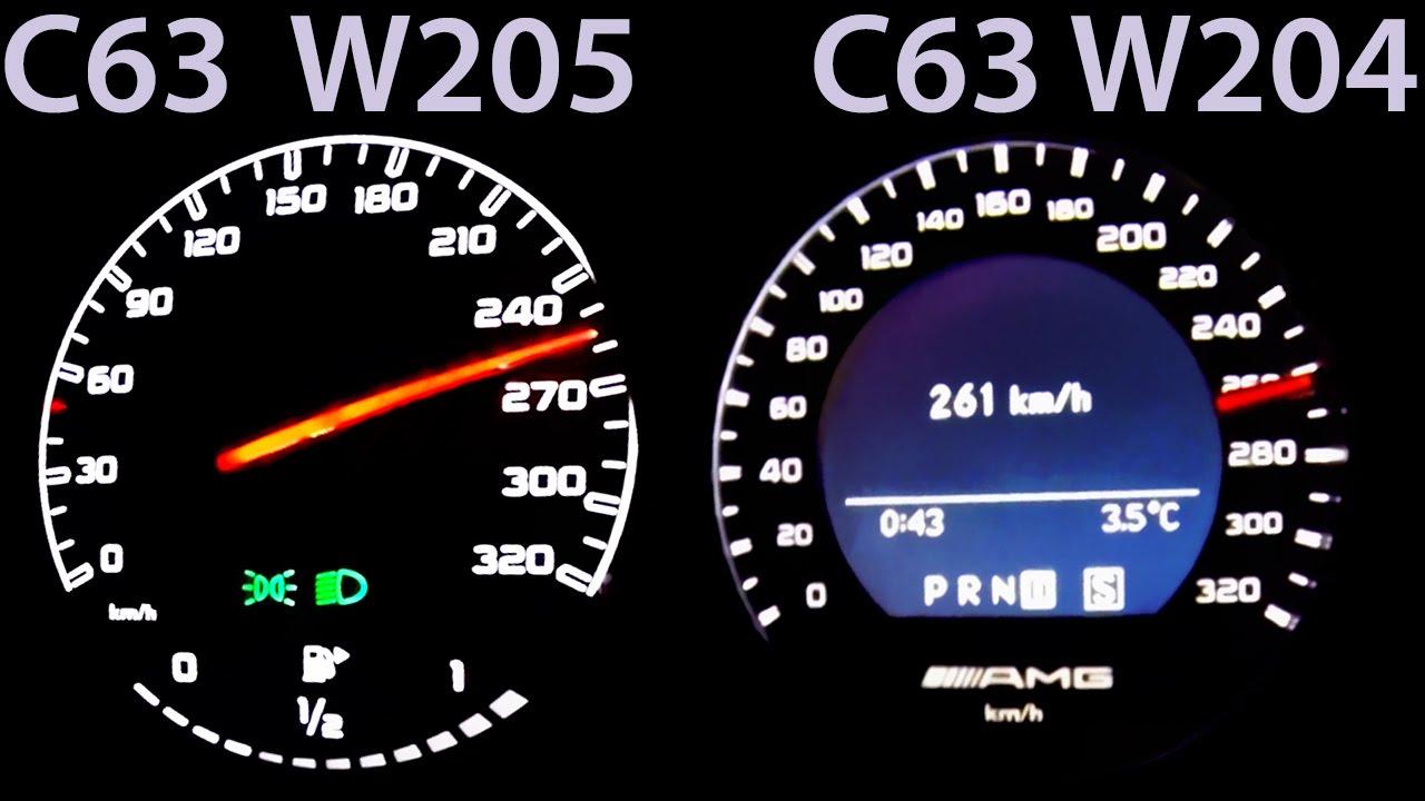 Mercedes C63 Amg W205 Vs C63 Amg W204 0 250 Acceleration