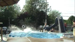 EPIC 6 Pass Basketball Trick Shot In A Pool HD
