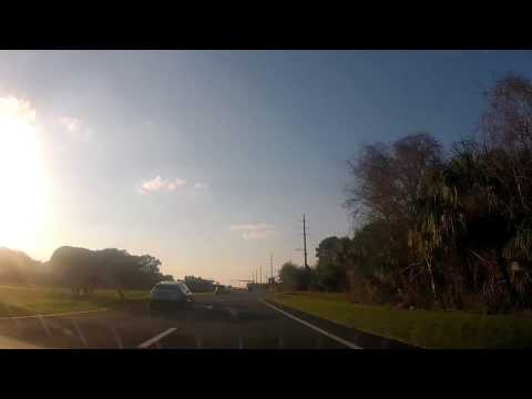 Driving from Cape Canaveral to Cocoa Beach, Florida