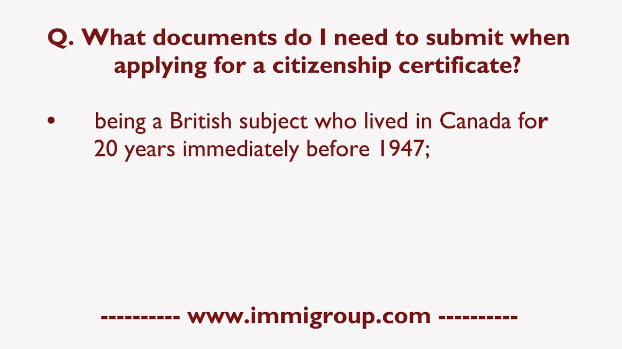 What Documents Do I Need To Submit When Applying For A Citizenship