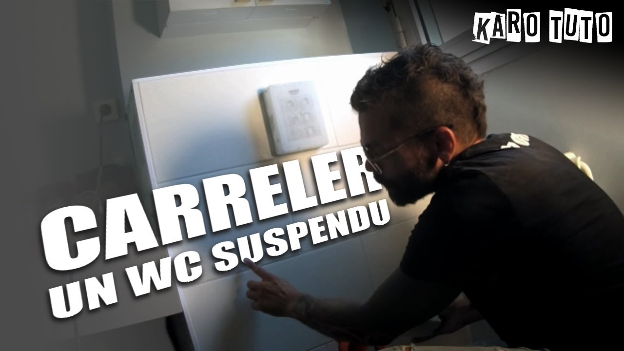 Carreler un wc suspendu