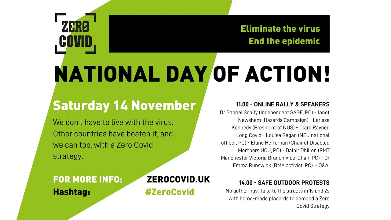 Zero Covid - launch rally for the campaign to beat the pandemic
