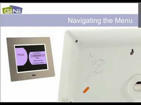 GiiNii 8 inch Ultra Thin Digital Picture Frame User Guide - YouTube