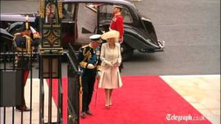 Royal wedding video: Westminster Abbey arrivals for Prince William and Kate Middleton's big day