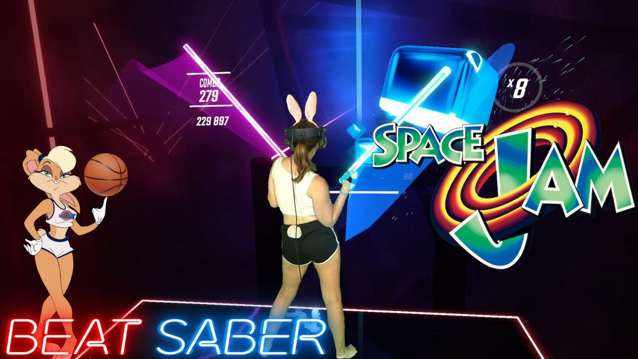 Space Jam in Beat Saber! (Expert)   Mixed Reality