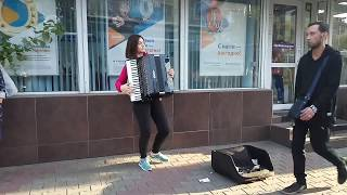 Amazing street accordion music in Russia / 2017