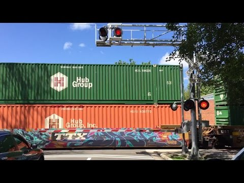 T Street Railroad Crossing, UP 5305 Intermodal Northbound and Malfunction, Sacramento CA