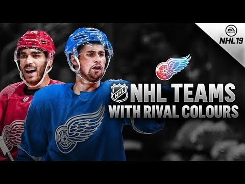 NHL TEAMS WITH RIVAL JERSEY COLOURS