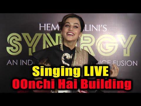 Taapsee Pannu Singing Oonchi Hai Building 2.0 Song - Judwaa 2