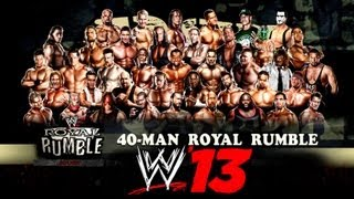 WWE 13 40-MAN ROYAL RUMBLE
