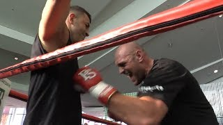 Tyson Fury v Sefer Seferi - Tyson Fury Public Workout And Interview In Manchester