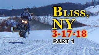 Bliss, NY LAST RIDE OF SEASON 3-17-18: PART 1