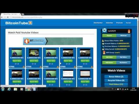 BITCOIN tube / La mejor manera de ganar BITCOIN viendo Vídeos de Youtube.
