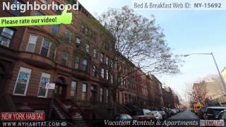 Video Tour of a Bed & Breakfast Suite in Harlem, Manhattan