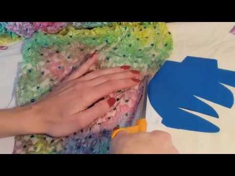 """Радужный"" купальник с бахромой-2! ХГ. Rainbow Leotard With Trim Skirt-2.RG."