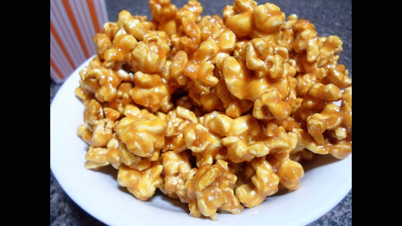How To Make Caramel Popcorn Easy Cooking Youtube