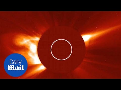 The moment a Kreutz sungrazing comet plunges into the sun - Daily Mail