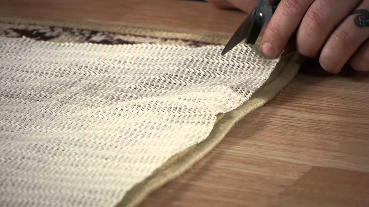 How To Properly Trim An Underlay For An Area Rug : Carpet U0026 Rugs   YouTube