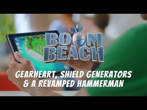 Boom Beach - New Update Tutorial: Colonel Gearheart / Hammerman / Shield Generators by Supercell!