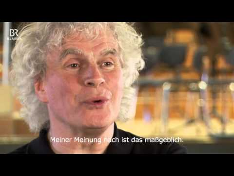 "Simon Rattle probt ""Rheingold"" von Richard Wagner"