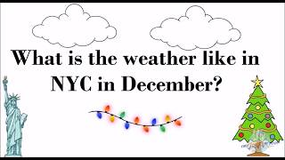 December Weather and Things to Do in NYC