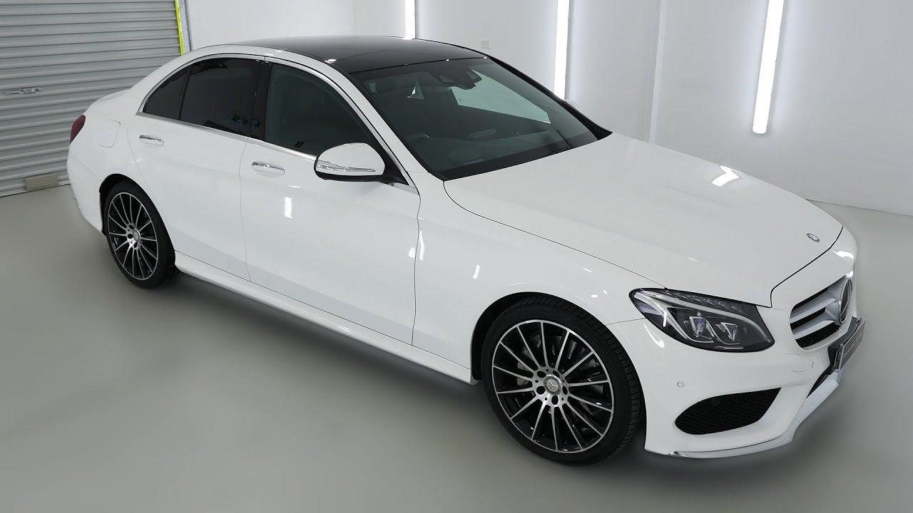 MERCEDES-BENZ C250 White Auto Sedan 15047 - YouTube