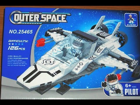 Ausini Outer Space Review MOC: White Starfighter Set 25465