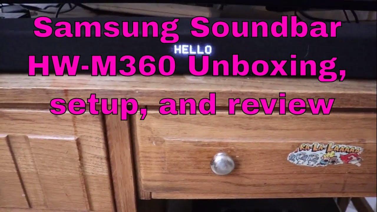 Samsung Soundbar Hw M360 Unboxing Setup And Review Youtube Audio K350 Xd