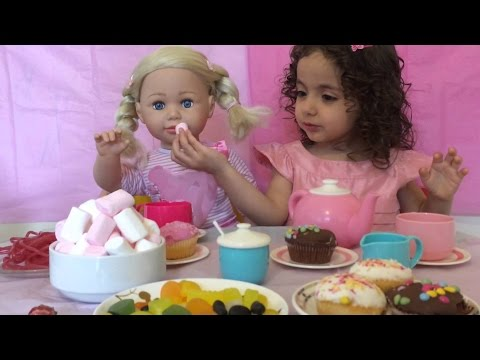 Baby Born Dolls Have A Tea Party