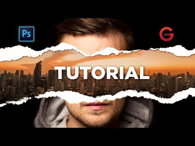 Photoshop Tutorial | Efecto Papel Desgarrado | Torn Paper Effect