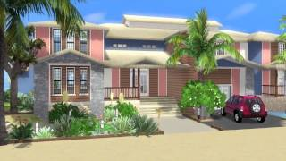 Sims 3 House Building - Sunset Palms (with story)