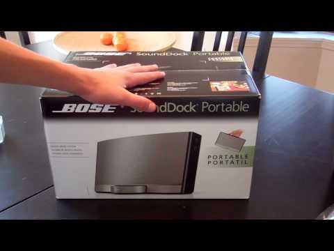 Unboxing: Bose SoundDock Portable Digital Music System Bundle