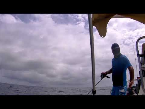 Rextail Slow Jigging Rod at 110 meters deep in action