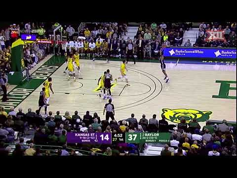 Kansas State At Baylor Men's Basketball Highlights