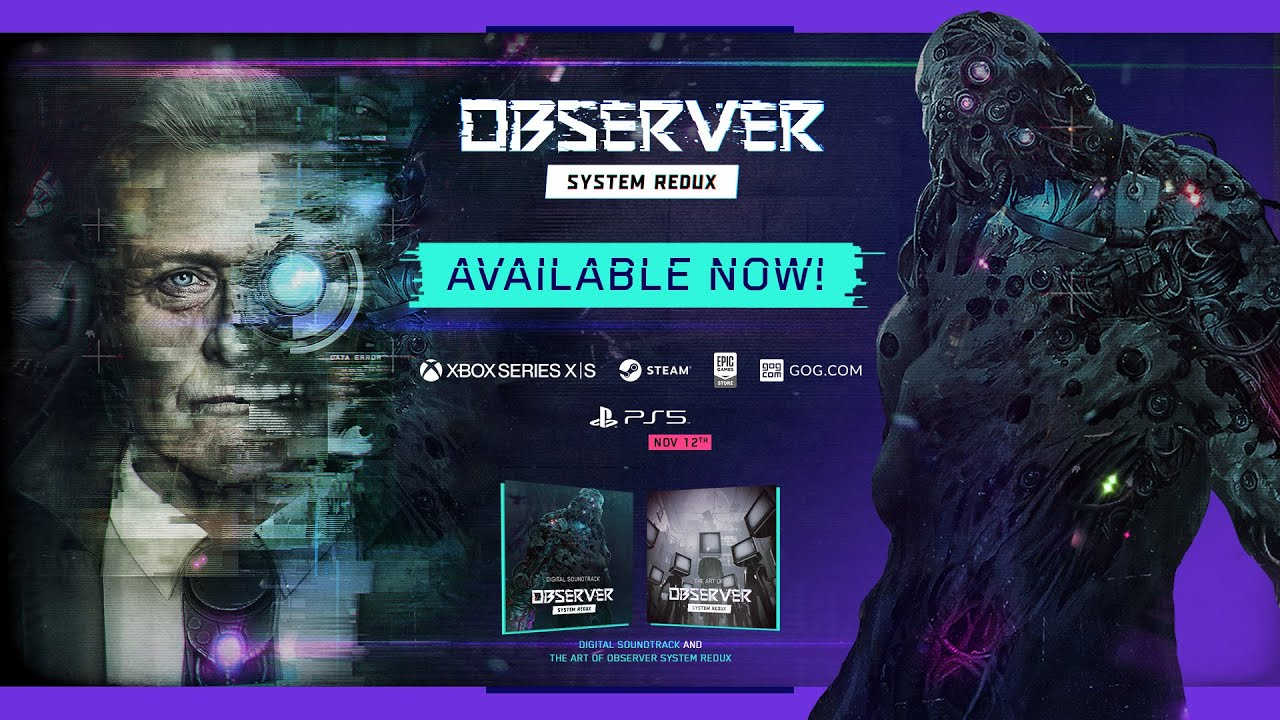 First Next-Gen Horror, Cyberpunk Thriller Observer: System Redux, Out Now On Xbox Series X and PC