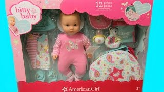 AMERICAN GIRL Bitty Baby Doll Set Costco Unboxing + Changing Video By Bitty Baby Channel