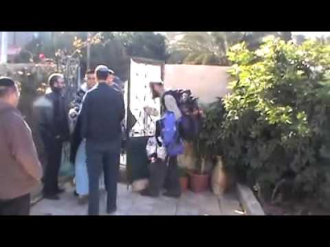 Old Palestinian lady arrives home finds Jewish settlers have stolen her house