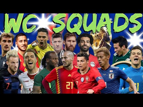 World Cup Squads: Brazil, England, Germany, France, Argentina, Mexico & More