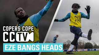 PALACE TRAINING | Ebere Eze nearly takes two heads off and Tyrick Mitchell busts the net.