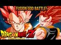 DragonBall Z Super Saiyan God Gogeta VS Super Saiyan God Vegito Battle of Gods