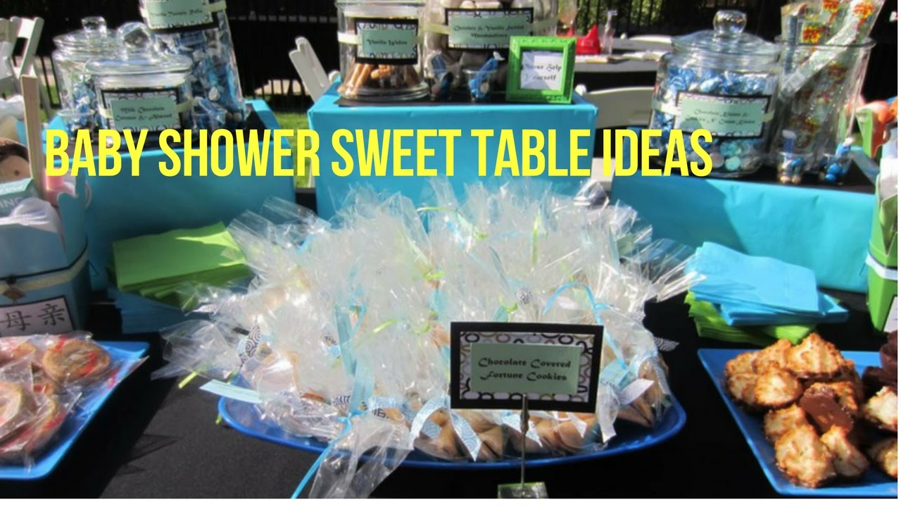 Baby Shower Sweet Table Ideas - YouTube