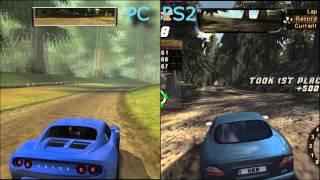 NFS Hot Pursuit 2 - Comparison PC vs Playstation 2 version (2002 year)