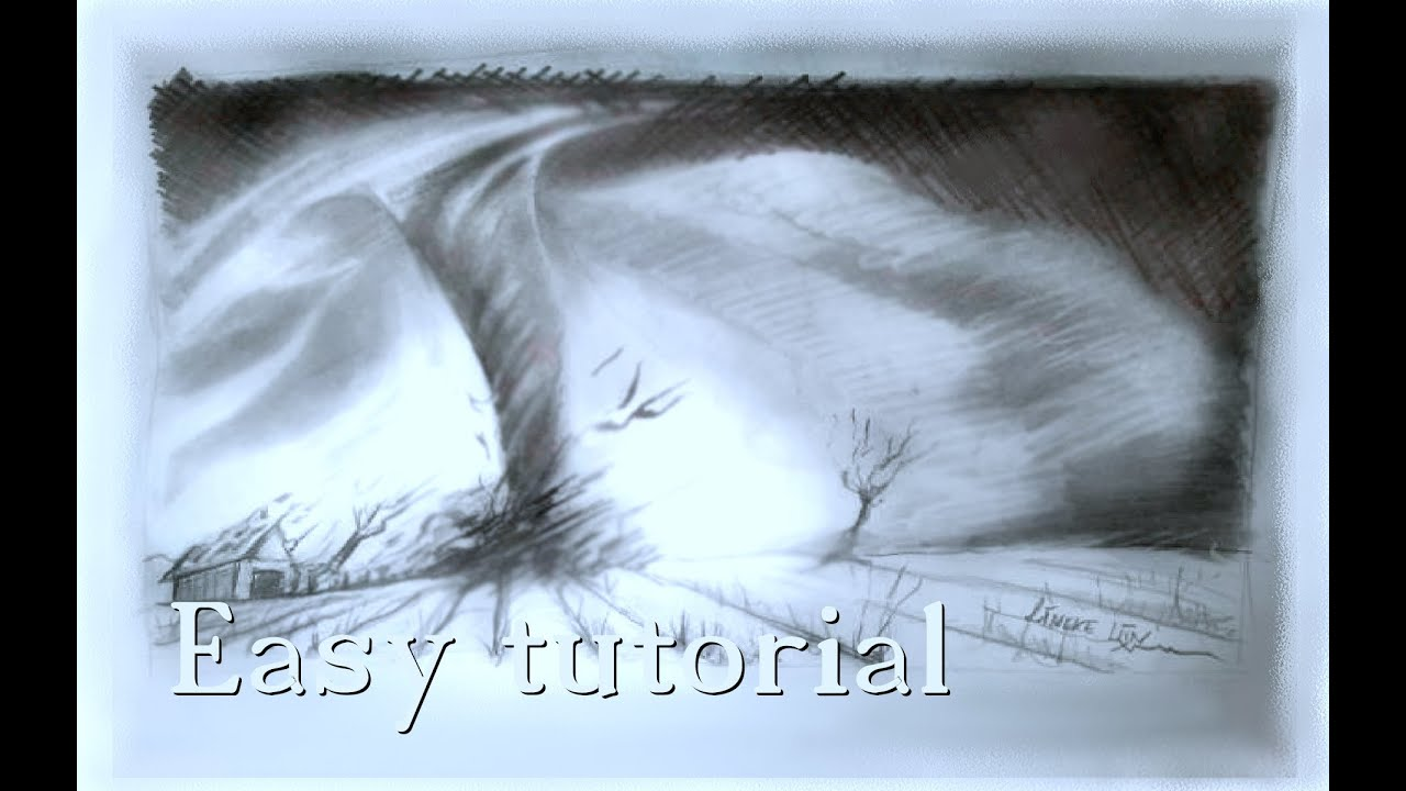 Easy Tornado Drawing For Beginners Youtube