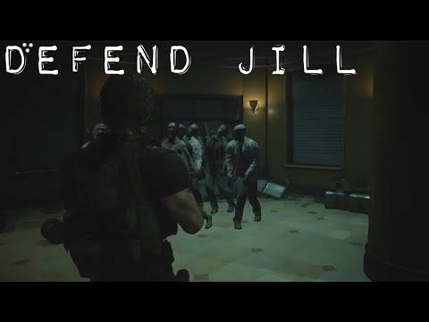 Resident Evil 3: Carlos Defends Jill & Fights A Horde Of Zombies