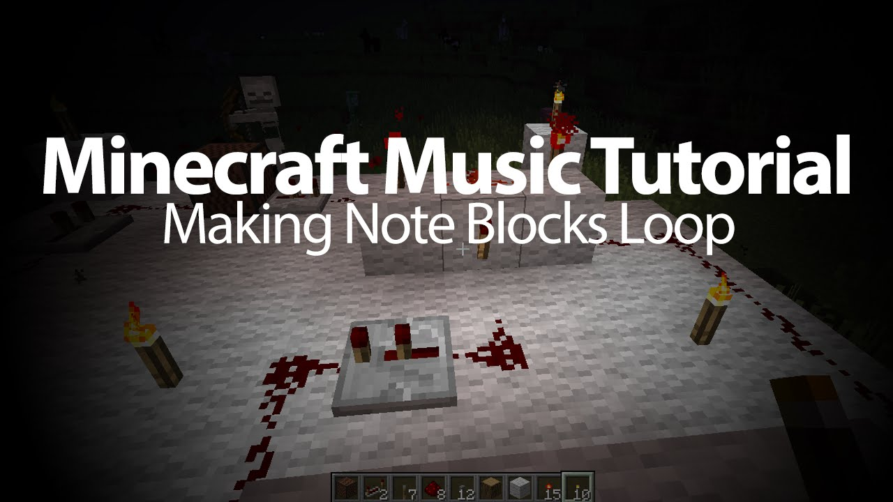 Minecraft Music Tutorial Note Block Looper 2016 Youtube Related To How Create A Repeating Redstone Circuit