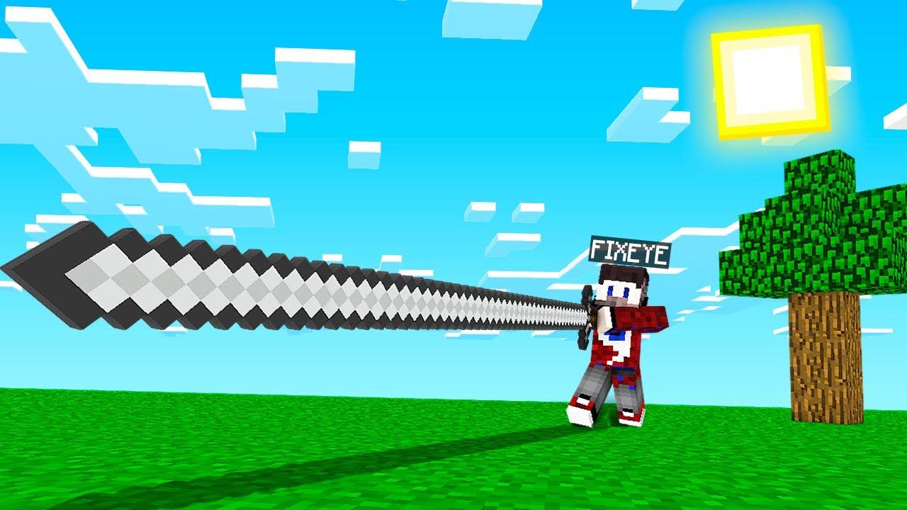 😱Майнкрафт, но с очень длинными мечами