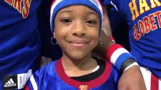 7-year-old plays with Harlem Globetrotters