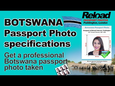Botswana Passport Photo and Visa Photo snapped in Paddington, London